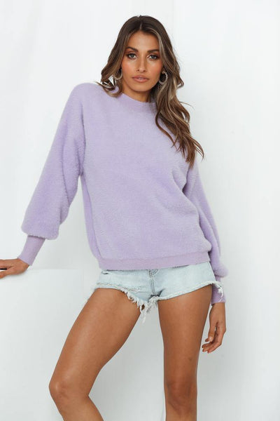 Cool New Yorker Knit Jumper Lilac