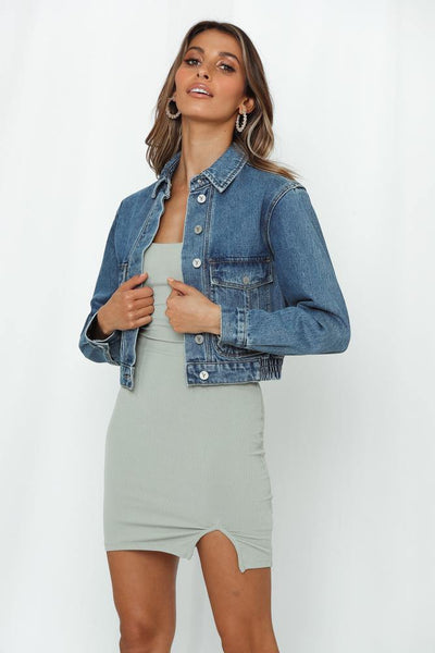 Abrand Millie Denim Jacket Austin Blue