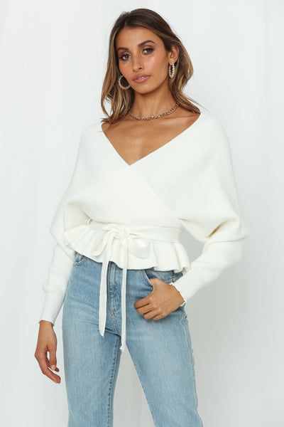 After Dawn Knit Crop Ivory