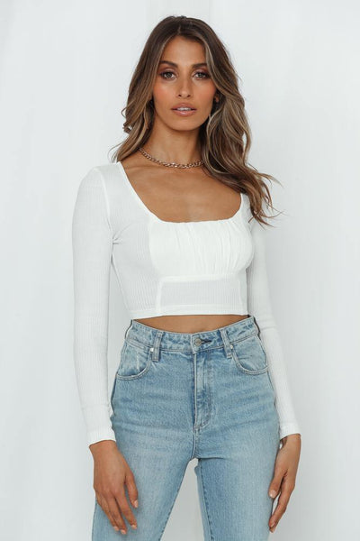 Young Flirt Crop Top White | Hello Molly USA