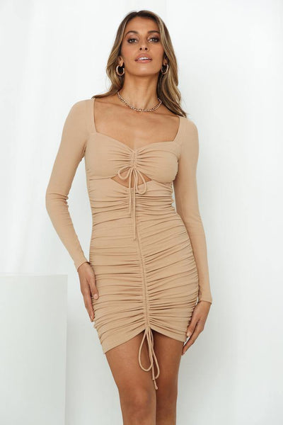 Walk Through Fire Dress Tan | Hello Molly USA