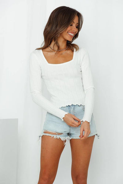 Courtside Killer Knit Top White | Hello Molly USA