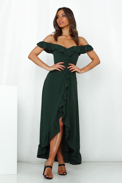 HELLO MOLLY Sweeter Than Honey Maxi Dress Green