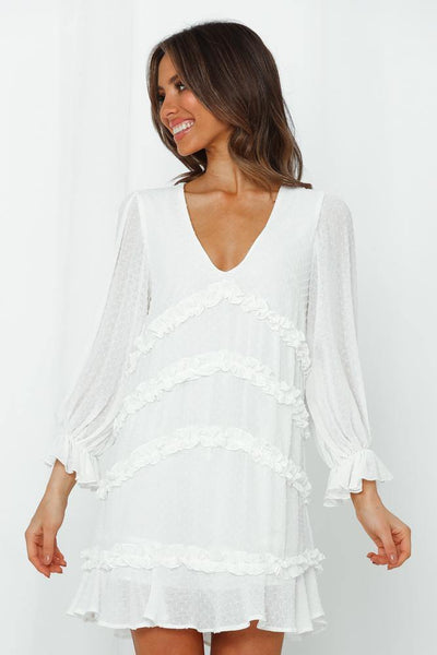 Mirrors And Lights Dress White