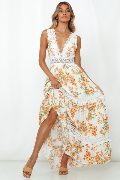 All Kinds Of Perfect Maxi Dress White
