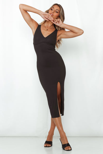 Nightly Ritual Midi Dress Black