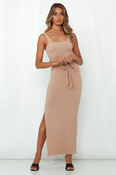 Mute My Messages Maxi Dress Beige