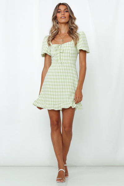 Your Heart Is Mine Dress Lime
