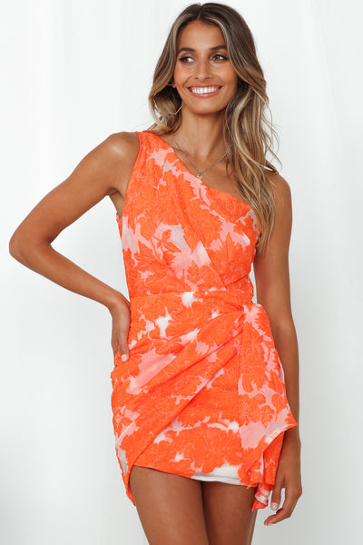 Moving On Out Dress Orange