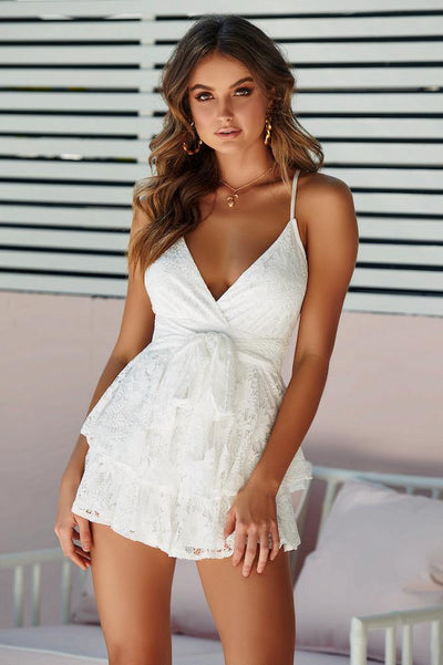 Trust Myself Romper White