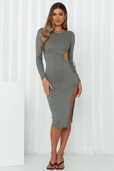 Body Party Midi Dress Green