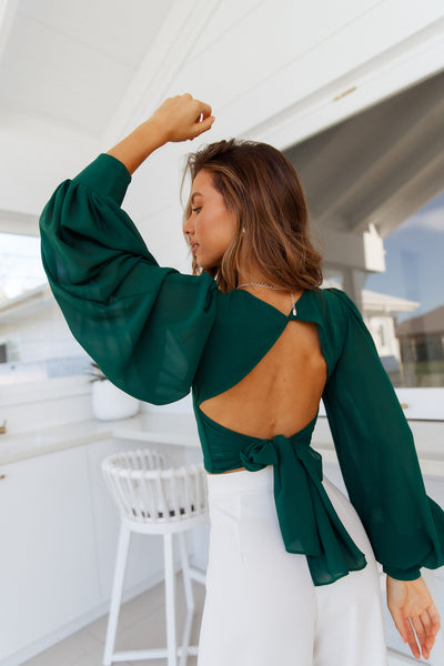 Night Train Crop Top Green