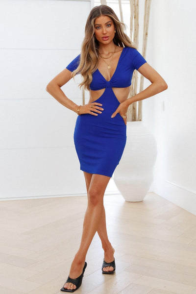 Choose Me Dress Royal Blue | Hello Molly USA
