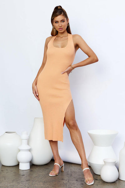 Hot Girl Summer Midi Dress Orange | Hello Molly USA
