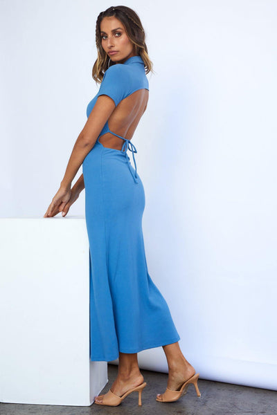 Last Minute Trip Maxi Dress Blue | Hello Molly USA