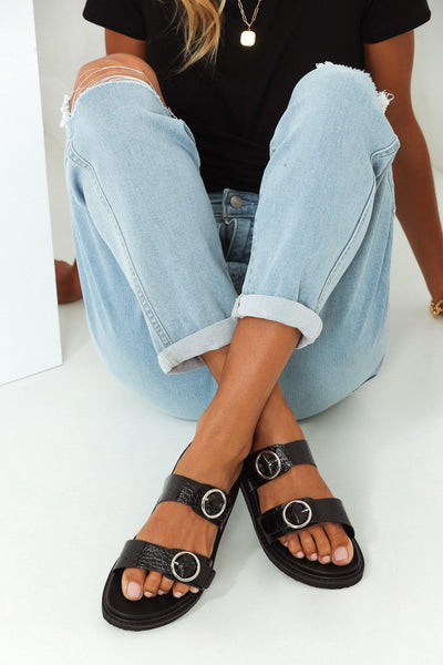 BILLINI Ziba Sandals Black Croc