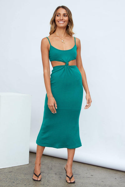 Outfit Approved Midi Dress Teal