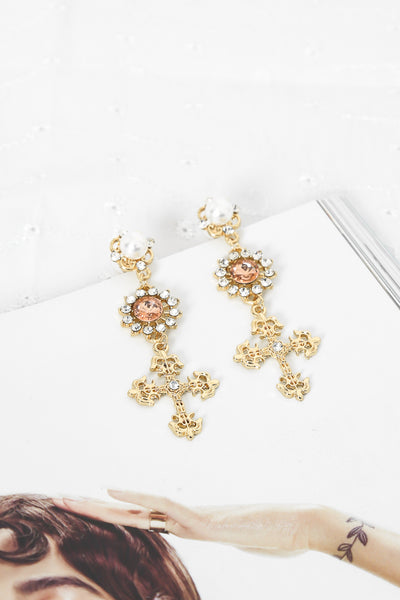 Coat Of Arms Earrings Gold