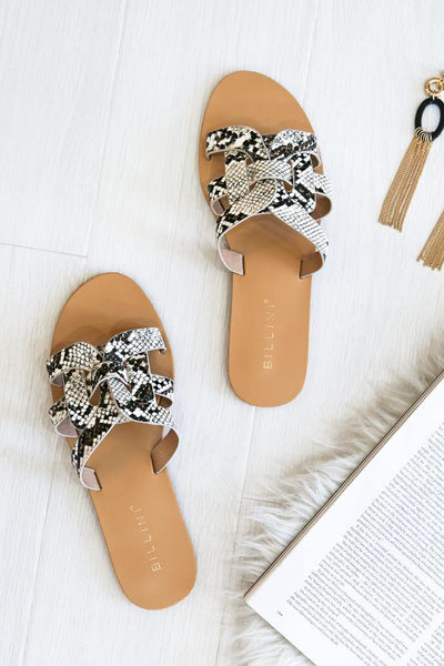 BILLINI Atlantis Slides Cream Snake