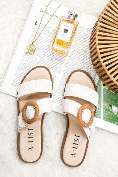 A LIST Winnie Slides White | Hello Molly USA