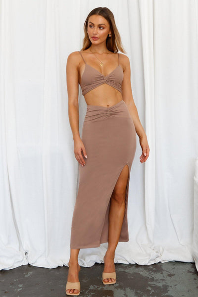 Teenage Fever Maxi Skirt Brown | Hello Molly USA