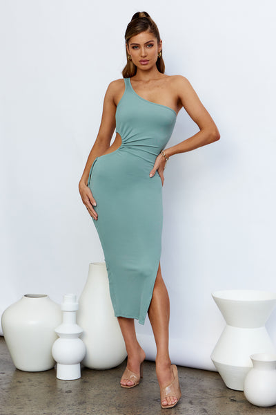 Money Eyes Maxi Dress Sage