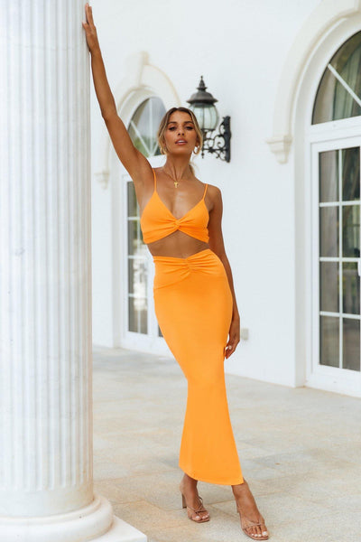 Teenage Fever Maxi Skirt Orange