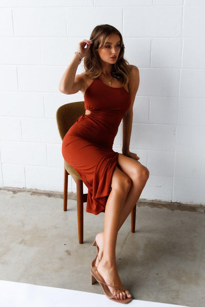 Jump On Board Midi Dress Tan | Hello Molly USA