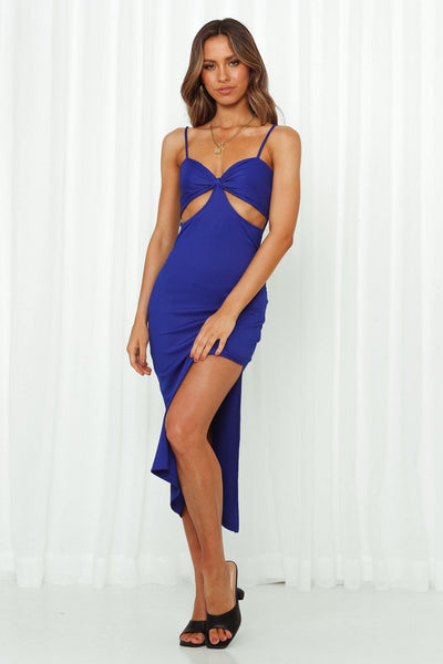 Midnight Rush Midi Dress Royal Blue | Hello Molly USA