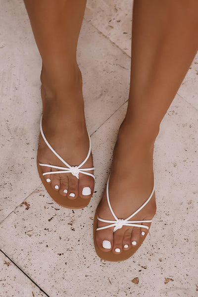 BILLINI Helene Slides White Croc