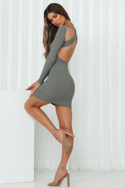 Sweet Lies Dress Sage