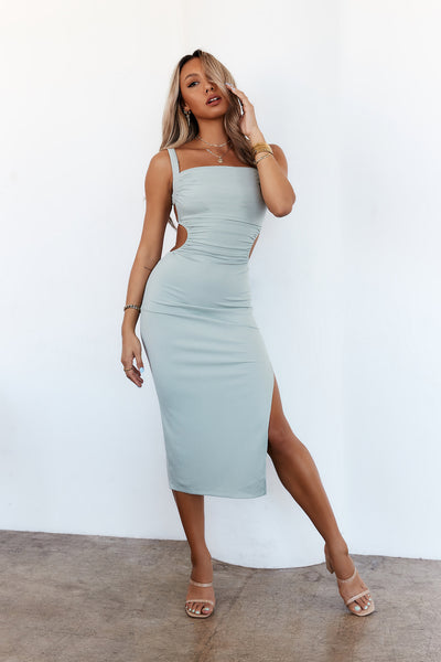 Frosé On Repeat Midi Dress Mint