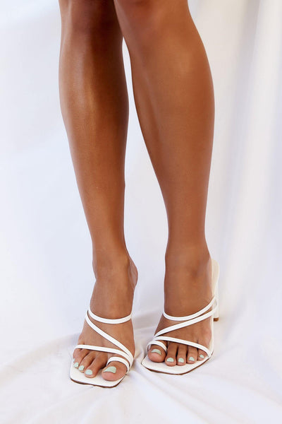 BILLINI Cascade Heel White Scale