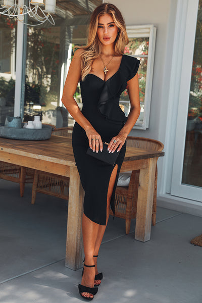 Caruso Midi Dress Black