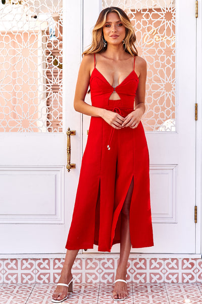 Nothing To Gain Jumpsuit Red