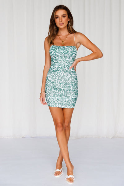 Move And Shake Dress Green