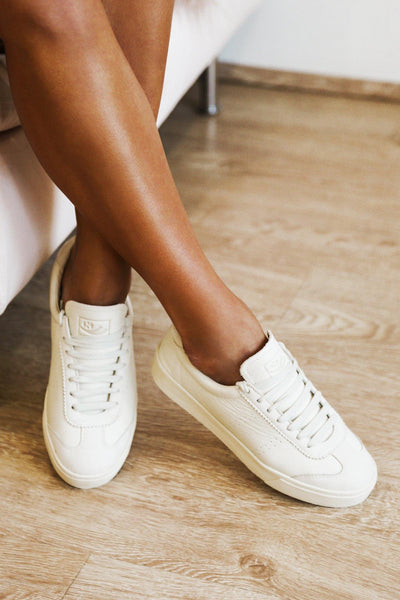 SUPERGA 2843 Clubs Tumbled Buttersoft Sneakers Total Beige Gesso | Hello Molly USA