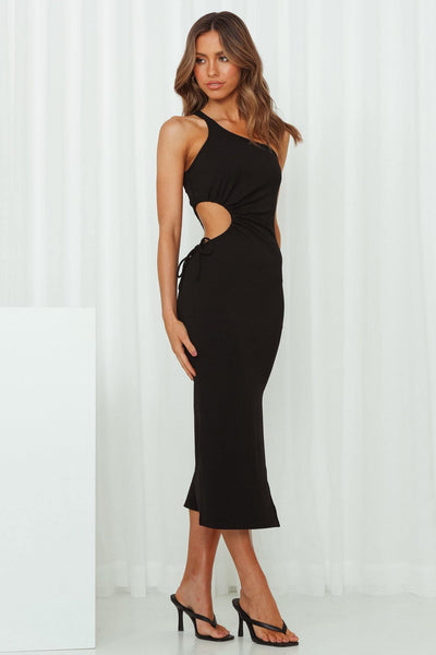 Jump On Board Midi Dress Black