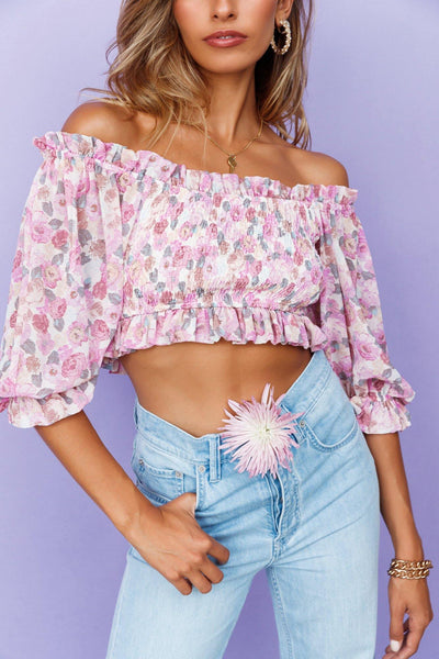 Not Alone Crop Top Lilac