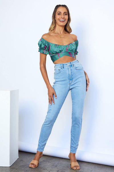 LEE Hourglass High Licks Crop Jeans Optimal Blue | Hello Molly USA