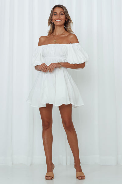 Be Your Baby Doll Dress White