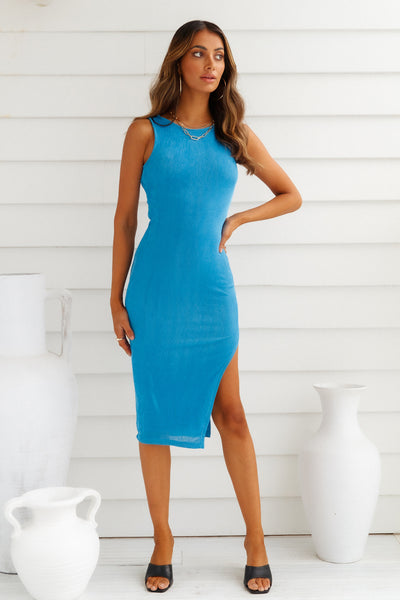 Sight Seeing Midi Dress Blue