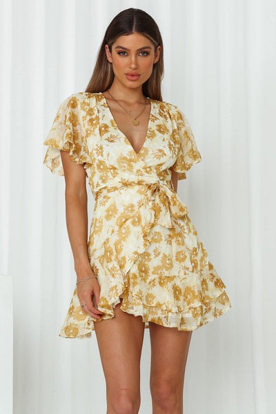 Undivided Attention Dress Yellow