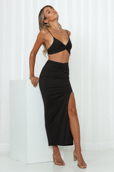 Teenage Fever Maxi Skirt Black