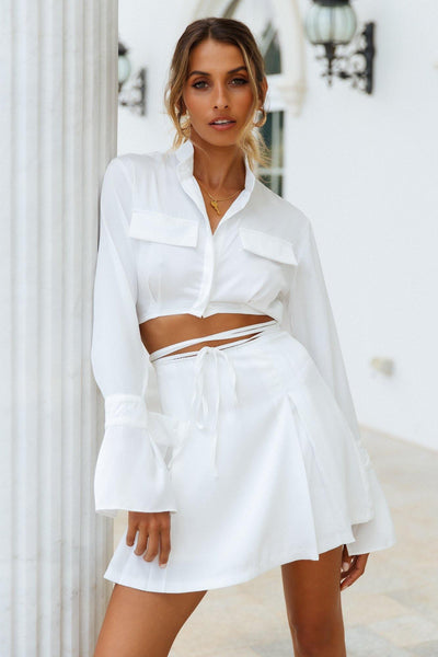New York Dreams Crop White | Hello Molly USA