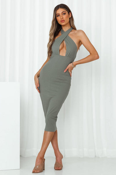 Stacey Midi Dress Green