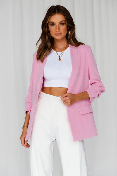 HELLO MOLLY Jaw Dropping Blazer Pink