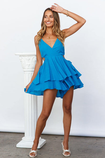 Mr Right Now Playsuit Blue