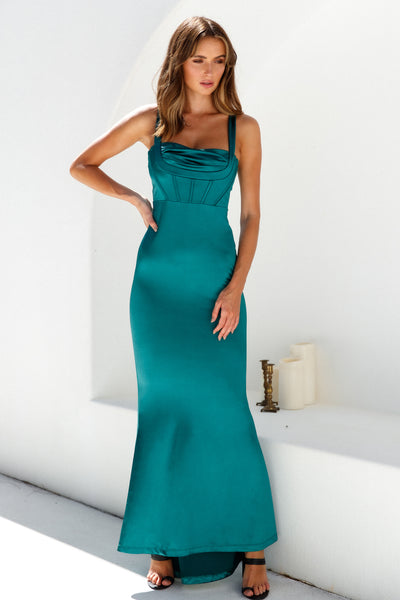 Quite The Party Maxi Dress Forest Green