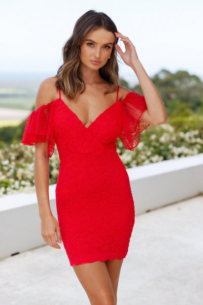 In My Favour Dress Red